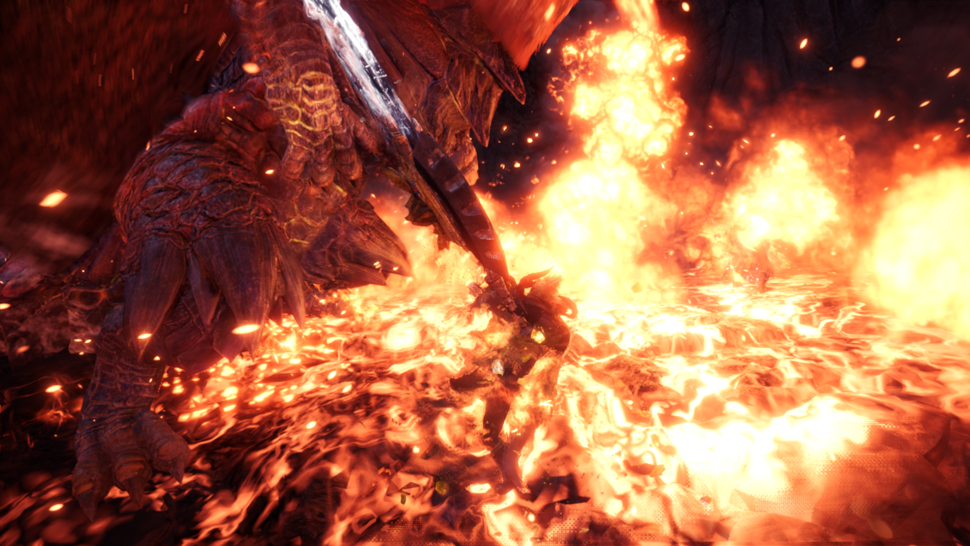 Teostra sets the world on fire